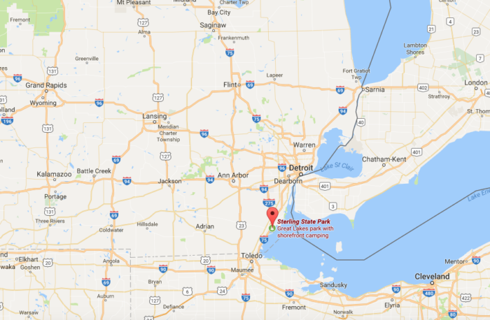 Sterling State Park In Michigan Offers Access To Lake Erie