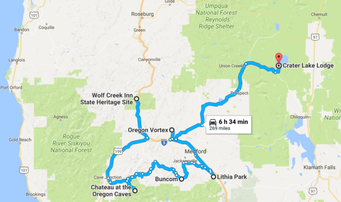 The Ultimate Terrifying Southern Oregon Haunted Road Trip - Map of southern oregon