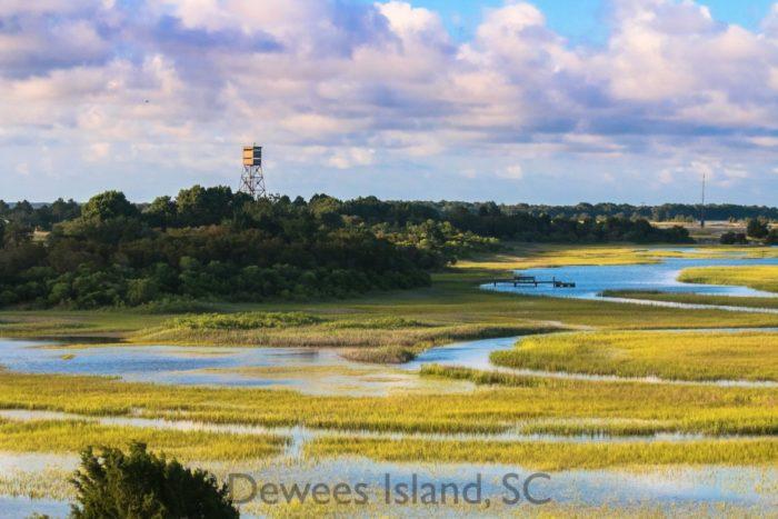 Remote Island Off South Carolina Coast