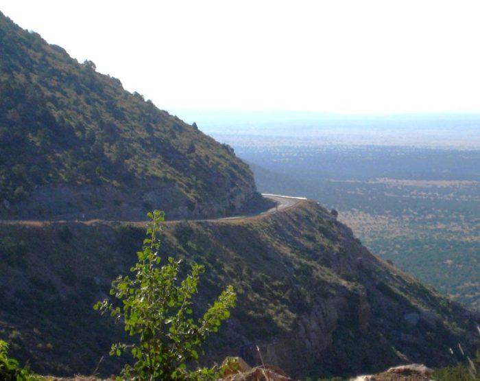The road to Tucumcari on NM 104