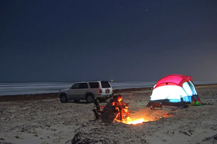 5 Places Where You Can Camp On The Beach In Texas