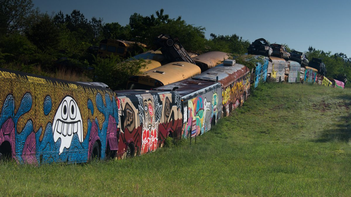 Car Share Denver >> The School Bus Graveyard in Georgia Is Truly Something To