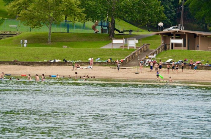 The Beach Has Just Enough Room To Spread Out And Enjoy Sand Water Facebook Buckhorn Lake State Resort Park Ky Parks