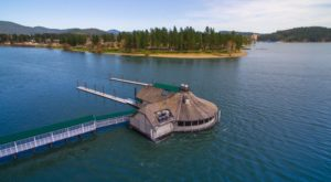Dine On Top Of A Lake At This Unique Floating Restaurant In Idaho