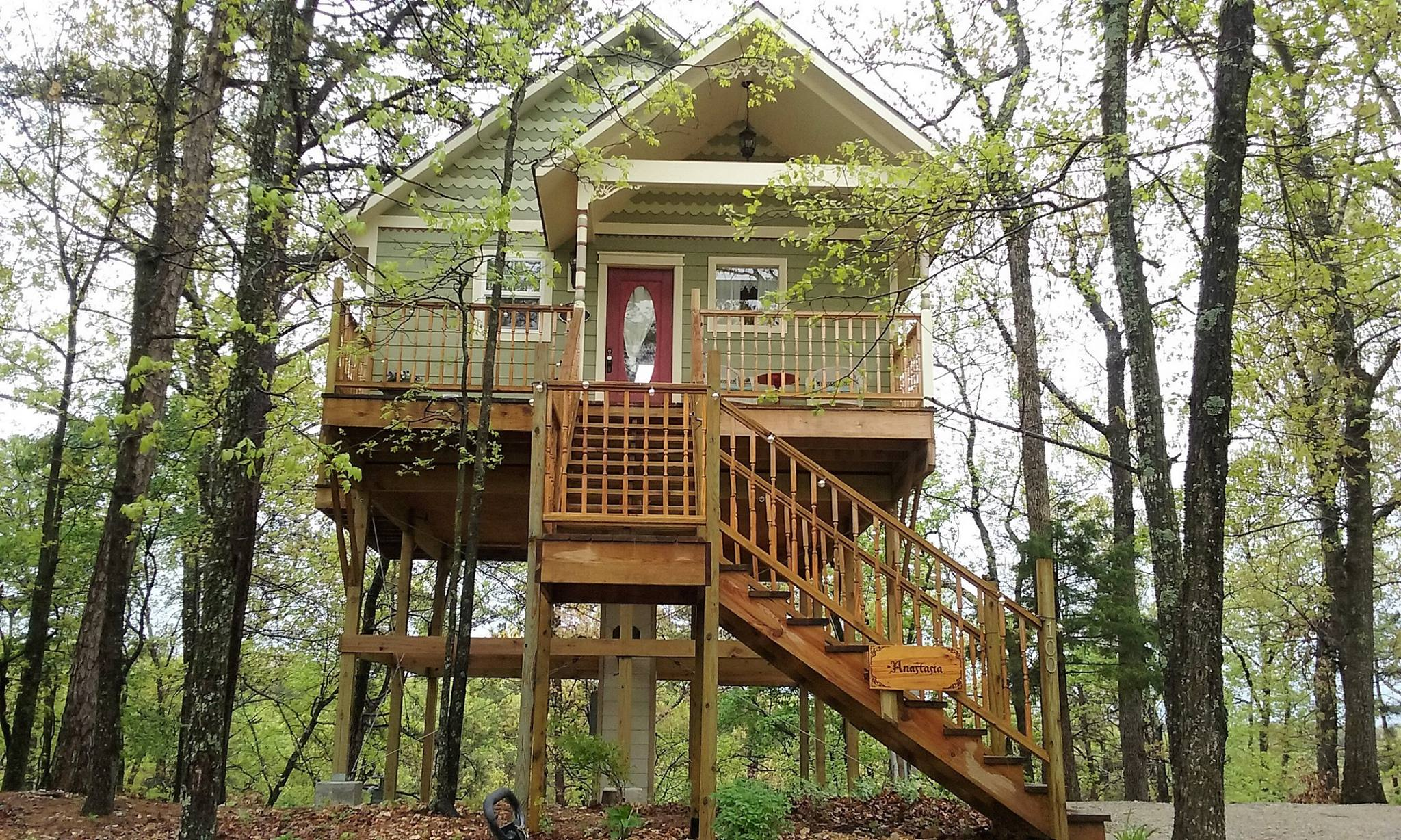 great balconies woodman tree treehouse and dwell on outdoor more com oklahoma shower a the pin houses balcony cabins s