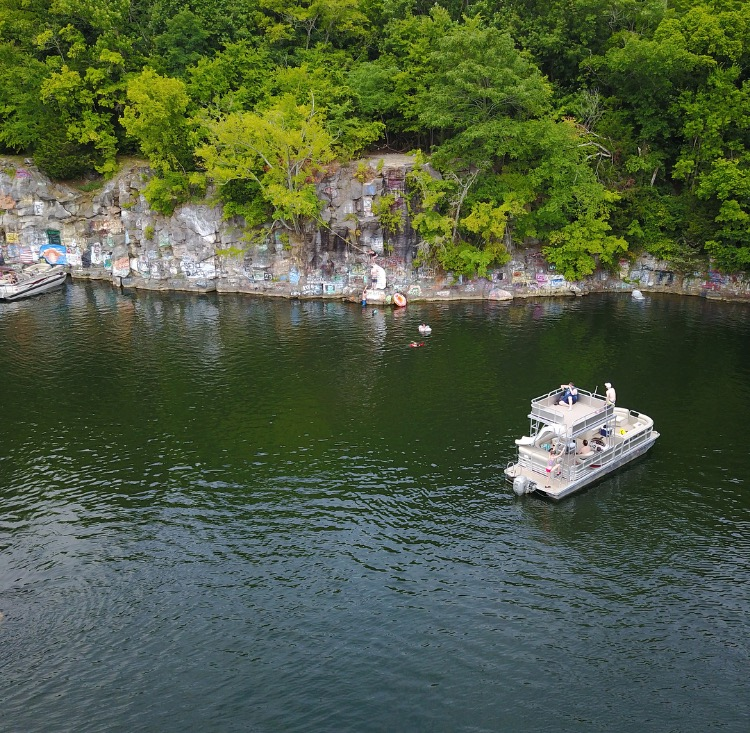 Places To Visit In Northern Ky: Kentucky Lake Rock Quarry Is A Beautiful Swimming Hole