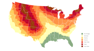 The Map That Shows You When And Where To View Fall Foliage In Wisconsin