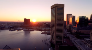 Someone Flew A Drone High Above Baltimore And Captured The Most Breathtaking Footage