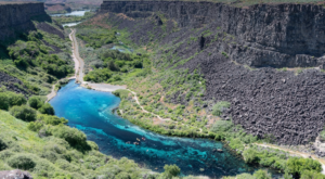 A Blue Oasis Is Hiding In This Desolate Canyon In Idaho