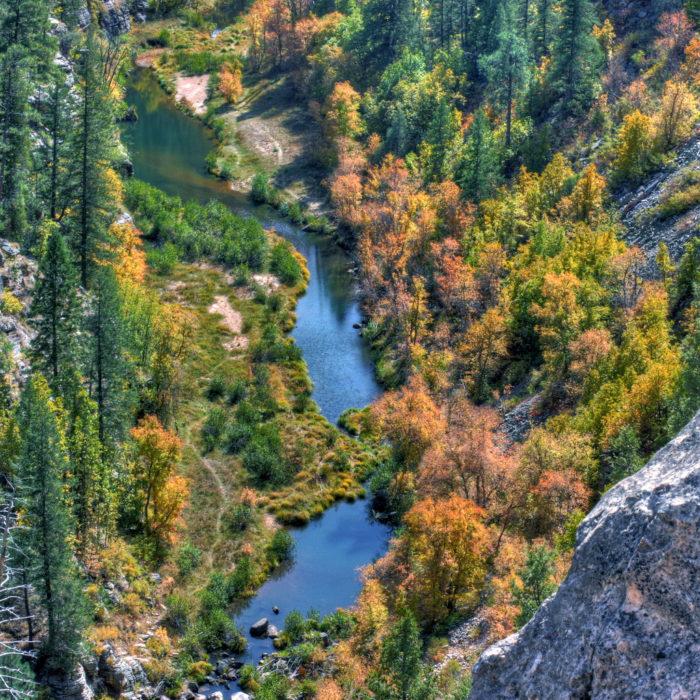 Blue Ridge Reservoir In Arizona Is Beautiful In The Fall