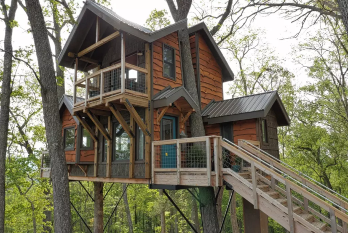 The Luxurious Treehouse Rental Is Only Ten Minutes From Downtown Asheville  But Transports You Straight To The Treetops. Itu0027s Built Around Two Trees  With ...