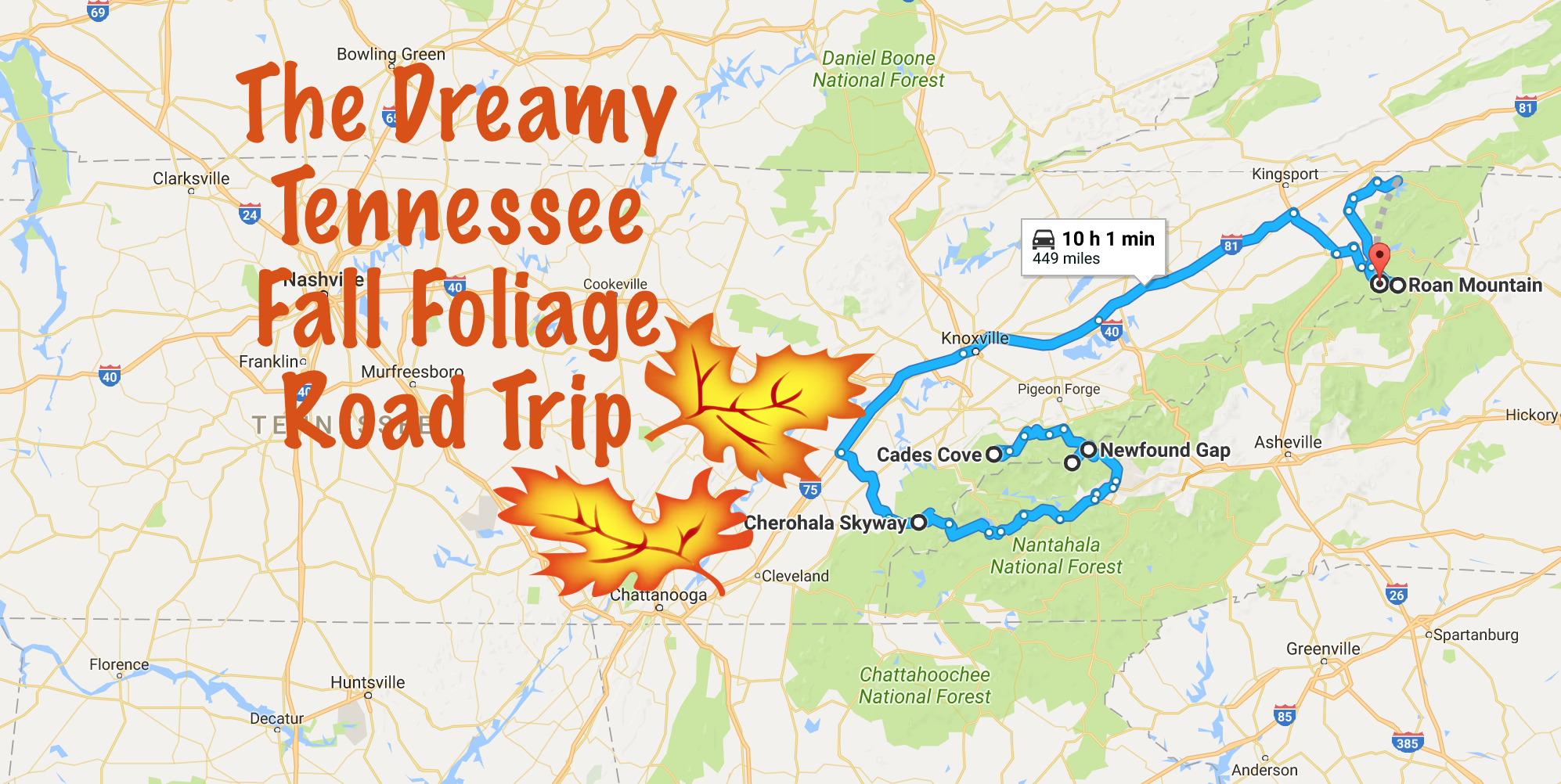 Beautiful Fall Foliage Road Trip Through Tennessee 2017