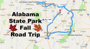 Take This Road Trip To Alabama's Most Beautiful State Parks This Fall Season