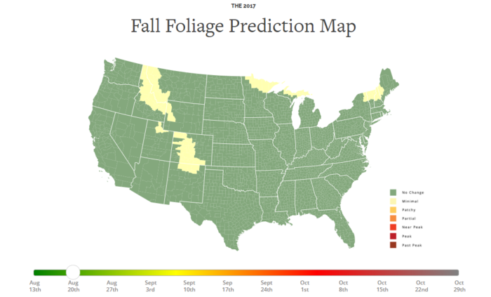 Here Are The Best Times And Places To View Fall Foliage In Arkansas - Us foliage map