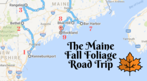 This Dreamy Road Trip Will Take You To The Best Fall Foliage In All Of Maine