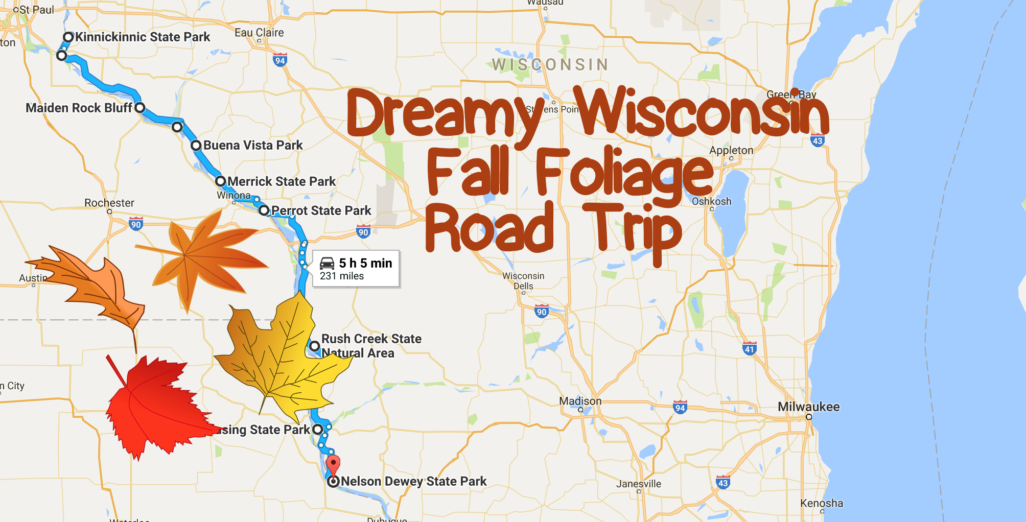 The Great River Road Provides a Great Backdrop for this Dreamy Wisconsin Fall Foliage Road Trip