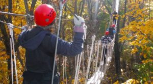 This Canopy Tour In Wisconsin Is The Perfect Way To See The Fall Colors Like Never Before