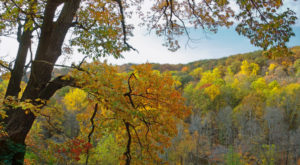 The Breathtaking Ohio Hike That Glows Gold Once A Year