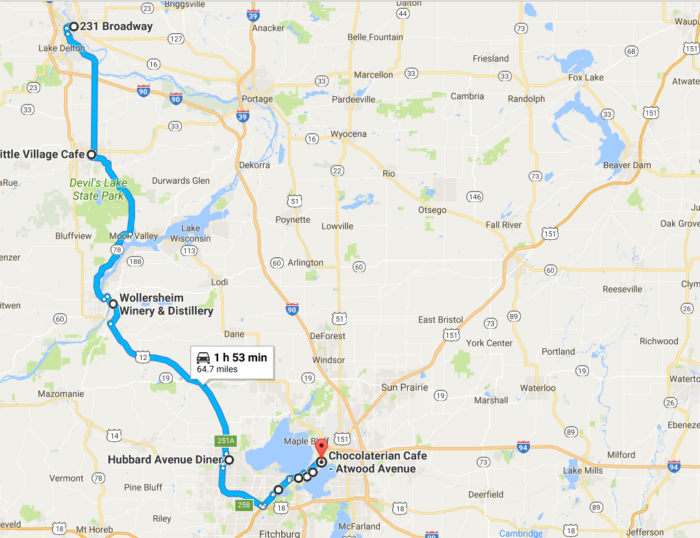 Take This Mini Road Trip For Of The Best Dessert Places In - Perfect us road trip map