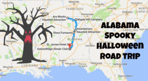The Spooky Road Trip In Alabama Everyone Must Take This Halloween