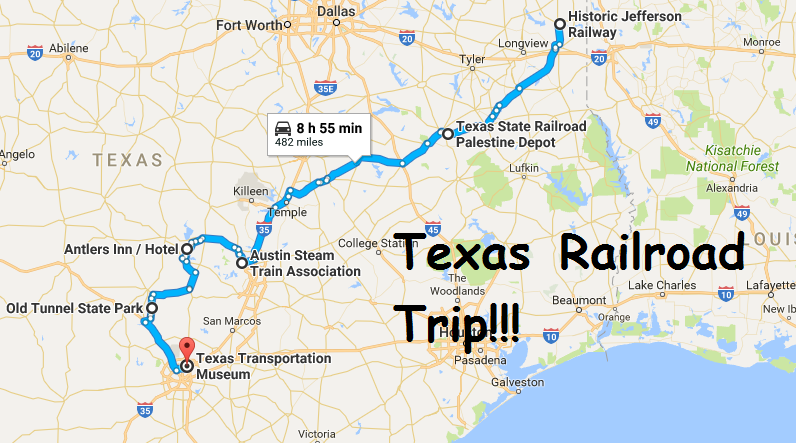 The Best Train Themed Road Trip In Texas
