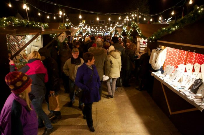 there are also outdoor shops most of this market takes place outside so make sure to bundle up - Oconomowoc Christmas Market