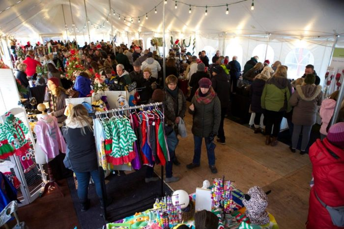 theres a tent full of vendors where you can stock up on christmas gifts and other goodies - Oconomowoc German Christmas Market