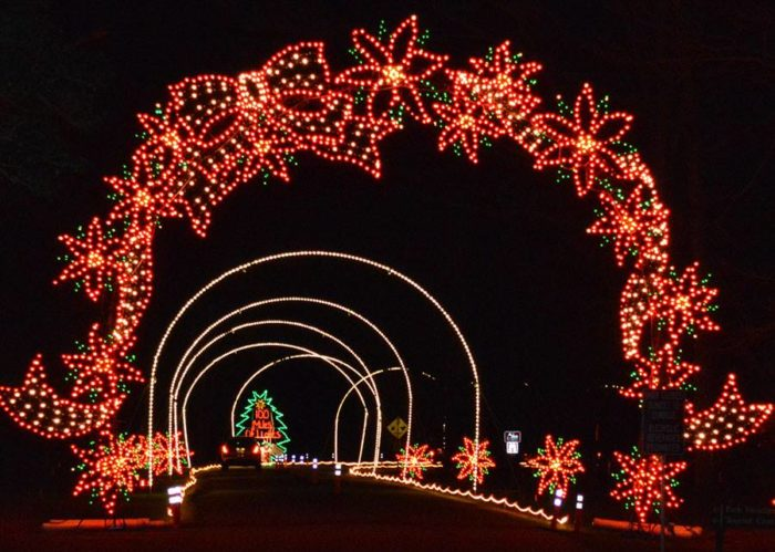 In addition to the whimsical lights and animated displays, this year's  event will also feature two LED screens with festive holiday scenes. Newport  News ... - Newport News Park Has The Biggest Christmas Light Show In Virginia
