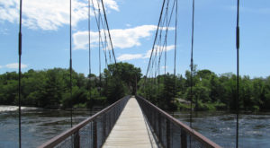The Stomach-Dropping Suspended Bridge Walk You Can Only Find In Maine