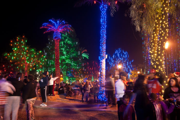 Glendale Glitters is now in its 24th year covering downtown Glendale in a  colorful display of dazzling Christmas lights. - Glendale Glitters In Arizona Is An Unforgettable Christmas Light Display
