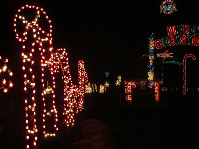 Oak Park Has The Best Walk-Through Winter Lights Display in North Dakota
