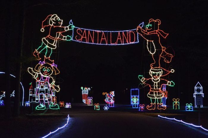 Visitors of all ages will feel the magic of Newport News' Celebration in  Lights, now celebrating its 25th anniversary. - Newport News Park Has The Biggest Christmas Light Show In Virginia
