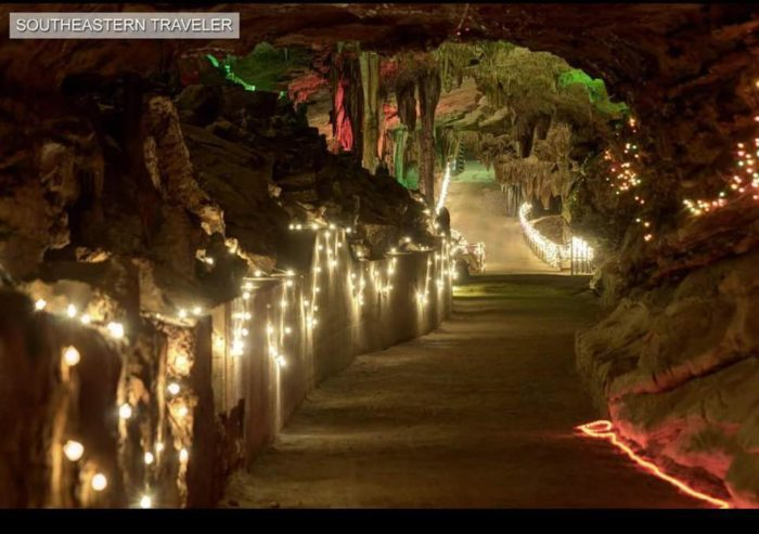 Cherokee Caverns Is A Unique Christmas Destination In