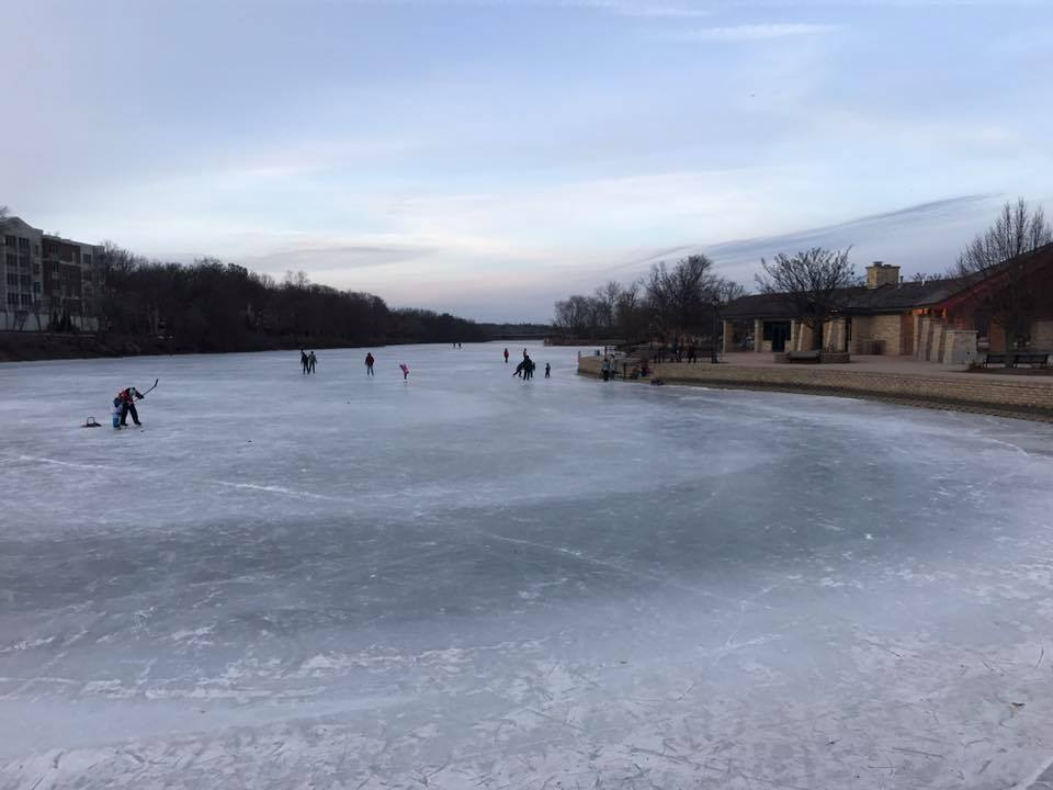 Depot Pond Is One Of The Best Natural Ice Skating Rinks In