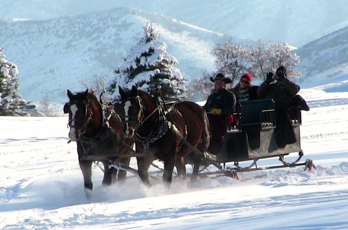 Take This One Of A Kind Sleigh Ride Through Utah S Winter