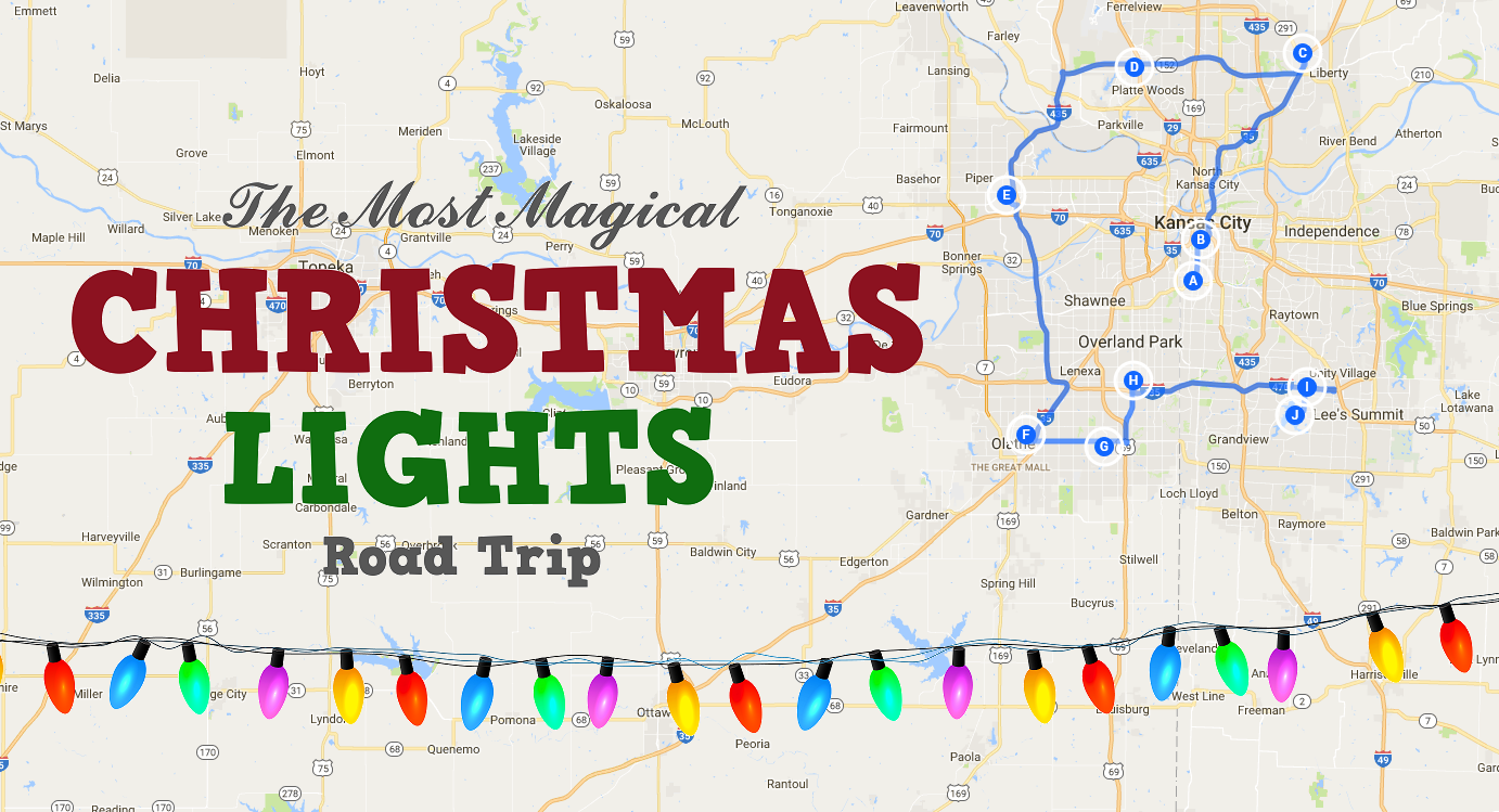 the beautiful christmas lights road trip to take around