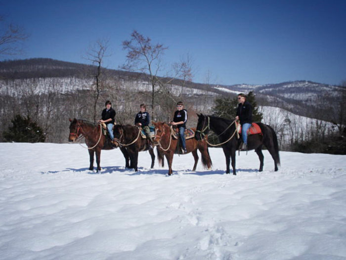 winter horseback riding along arkasas u0026 39  buffalo river is