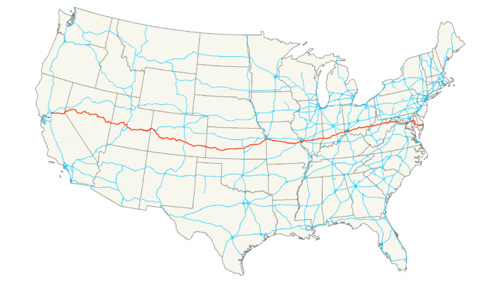 US Route Is The Loneliest Road In Washington DC - Us route 50 map