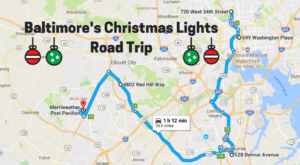 The Christmas Lights Road Trip Around Baltimore That's Nothing Short Of Magical
