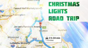 The Christmas Lights Road Trip Around Boston That's Nothing Short Of Magical