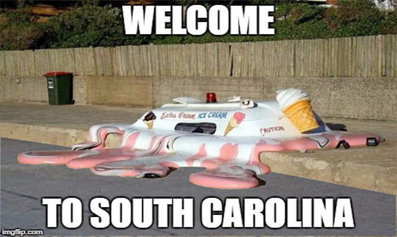 Image result for melting in South Carolina