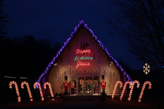 The La Salette shrine in Enfield has been lighting up the Upper Valley with its magnificent displays of Christmas lights since the 1950s.