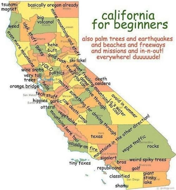 7 True And Hilarious Maps Of Northern California Nor Cal Map on