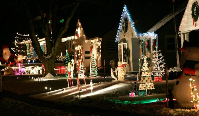 welcome to the winter wonderland that is candy cane lane