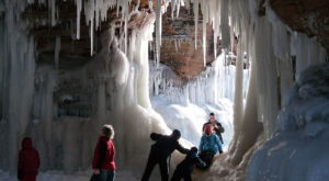 A Trip Inside Wisconsin's Frozen Caves Is Positively Surreal