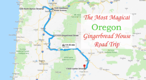This Holiday-Themed Road Trip Will Lead You To Oregon's Most Magical Gingerbread Houses