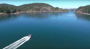 A Drone Flew Over Deception Pass State Park In Washington And Captured Mesmerizing Footage