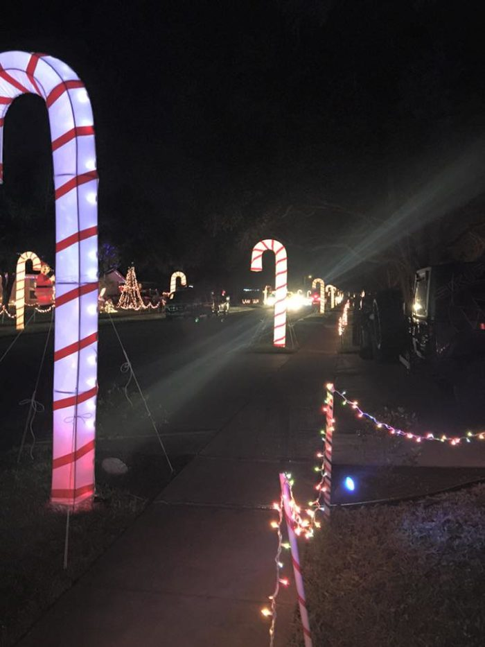 Candy Cane Lane Is A Neighborhood In Texas Decorated With