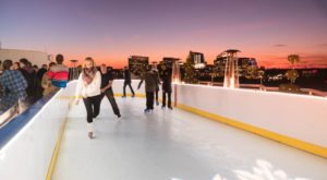 This Rooftop Ice Skating Rink Boasts The Most Stunning Views In DC