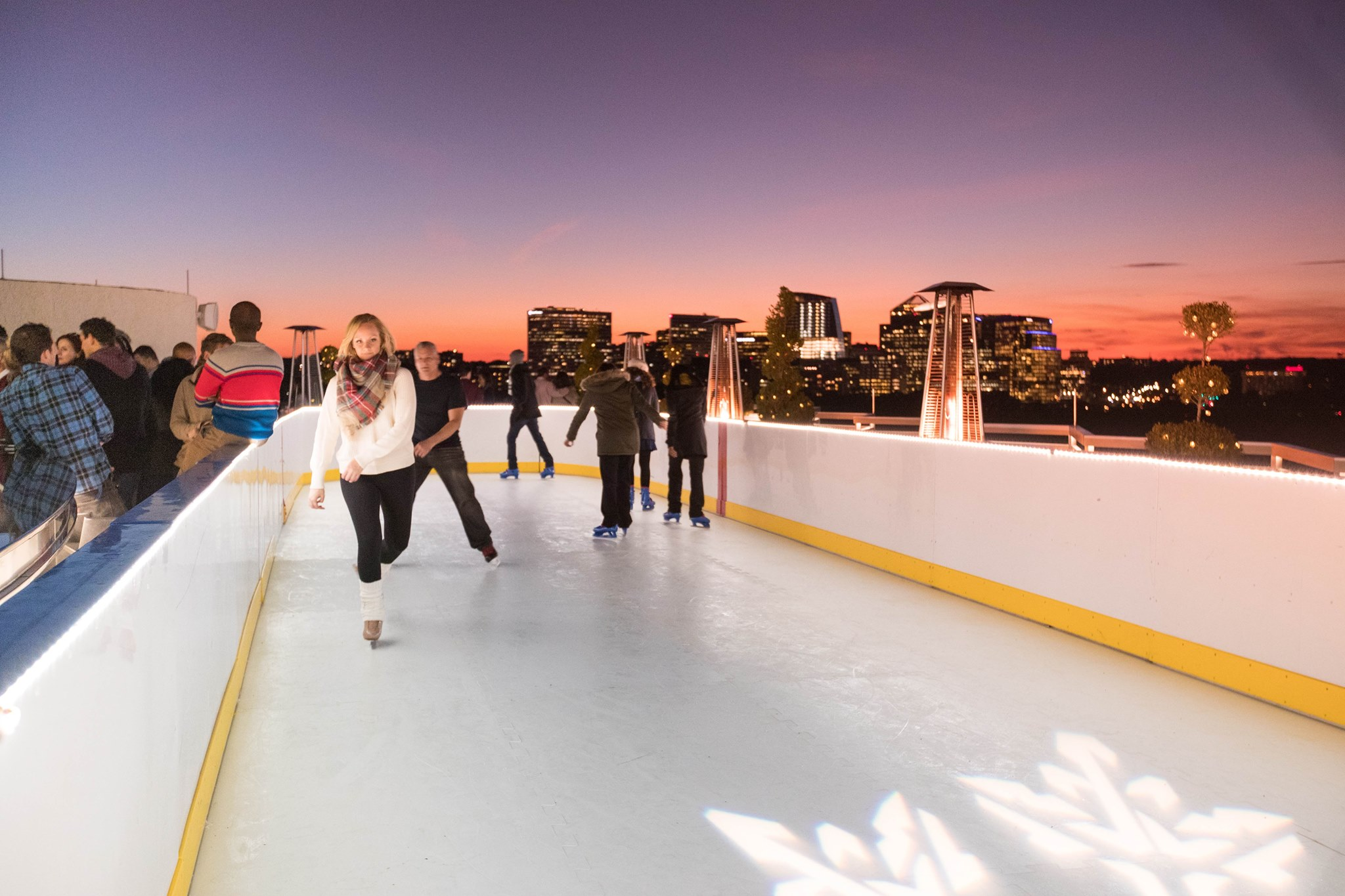 Top Of The Skate Is The Best Rooftop Ice Skating Rink In Dc